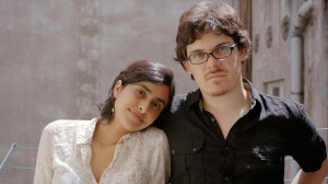 The filmmakers Natalia Cabral and Oriol Estrada