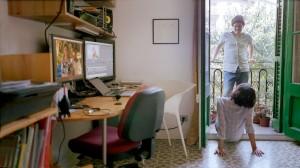 Natalia Cabral y Oriol Estrada trabajando en Tú y yo