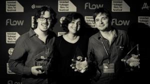 Oriol Estrada Natalia Cabral Miquel Galofre en el Trinidad + Tobago Film Festival