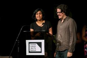 Oriol Estrada Natalia Cabral directors of You and Me ( Tu y Yo ) Best feature documentary at Trinidad + Tobago Film Festival 2014