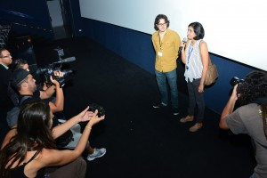 Natalia Cabral y Oriol Estrada en la estrena de TU Y YO en Santo Domingo